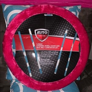 Auto Drive Hot Pink Steering Wheel Cover Only